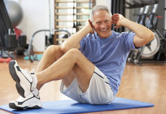 man-exercising